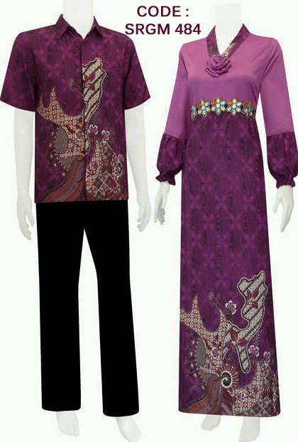 batik modern dengan model gamis payet code SRGM 48