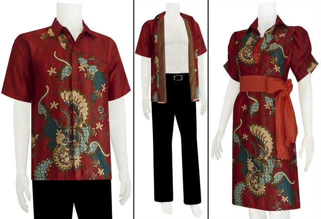 Batik Sarimbit Dress Model Tali Pinggang Code Srbc 22