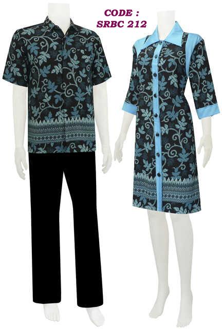 Model baju batik wanita categori dress batik SRBC 21 ...
